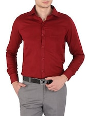 red cotton formal shirt -  online shopping for formal shirts