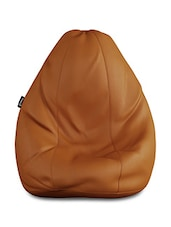 Story @ Home GIANT Designer Recliner Bean Bag - TAN Faux Leather Bean Bag Chair - XL Seriously Man Size Bean Bags -  online shopping for Bean bags