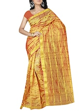 gold georgette saree -  online shopping for Sarees