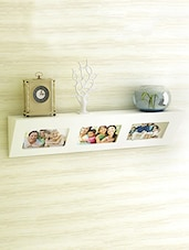 White MDF Photo Frame Wall Shelf - By