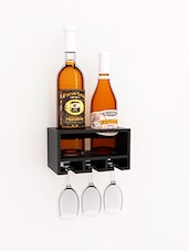 Black mango wooden 2 bottle wine rack -  online shopping for Wine Racks