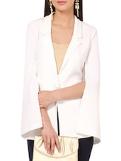 Solid white scuba coat -  online shopping for Blazers