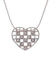 White silver plated chain pendant necklace -  online shopping for Necklaces