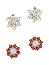 multi gold plated studs earring -  online shopping for Earrings