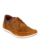 tan suede lace up shoes -  online shopping for Shoes