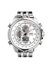 silver round dial digital watch -  online shopping for Digital watches