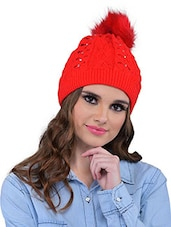 Red Polyester Cap - By