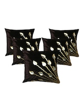 Homefab India Set Of 5 Cushion Covers (16X16 Inches) - By