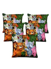 Homefab India 3D Cartoon Design Set Of 5 Cushion Covers (16X16 Inches) - By