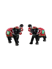Paper Mache Elephant Pair Showpiece Gifts Handicraft -  online shopping for Statues & sculptures