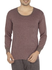 brown hosery thermal top -  online shopping for Thermal Tops