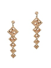 Gold Stone Studded Metallic Earring - By