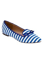 blue canvas slip on ballerina -  online shopping for ballerina