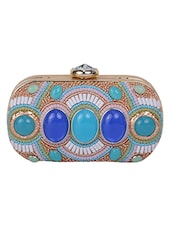 multi colored leatherette clutch -  online shopping for clutches