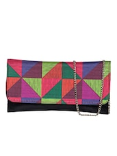 Multi printed leatherette sling clutch -  online shopping for clutches