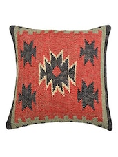 Indian Kilim Cushion Cover  Ethnic  Decorative Pillow Shams 18x18 Jute Cushions -  online shopping for Cushion Covers