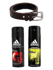 Adidas Deodorant Combo with Brown Belt -  online shopping for Deodorants
