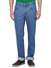 blue cotton regural jeans -  online shopping for Jeans