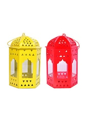 Decorate India Red Yellow Iron Lantern -  online shopping for Lanterns