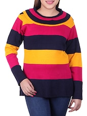 multicolored woollen pullover -  online shopping for Pullovers