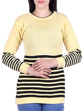 yellow woollen pullover -  online shopping for Pullovers