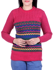 pink woollen pullover -  online shopping for Pullovers