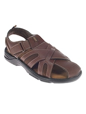 brown Leatherette sandal -  online shopping for Sandals