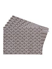 Brown Printed Reversible Placemats For Dining Table - Unique Designs Both Sides - Set Of 6 - By - 12590081