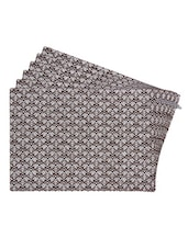 Brown Printed Reversible Placemats For Dining Table - Unique Designs Both Sides - Set Of 6 - By - 12590111