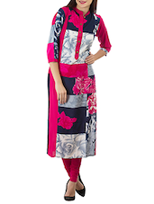 Multi Rayon Straight Kurta - By