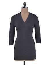 Grey Woolen Bodycon Dress - By