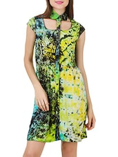 Multicolored rayon sheath dress -  online shopping for Dresses