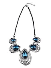 Blue Metal Other Necklace - By