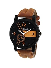 Cavalli Casual Analogue Tan Leather Strap Multicolour Dial Men's Watch CW-333 -  online shopping for Analog Watches
