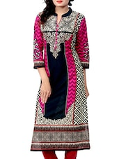 multi color cotton straight kurti -  online shopping for kurtis