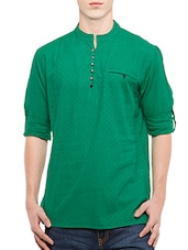 green cotton kurta -  online shopping for Kurtas
