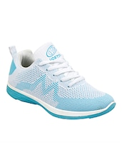 blue fabric & synthetic laceup sports shoes -  online shopping for Sports Shoes