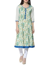 multi color cotton anarkali kurta -  online shopping for kurtas