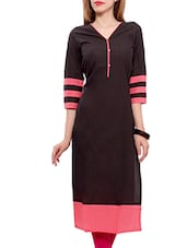 black cotton Long kurta -  online shopping for kurtas