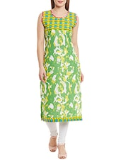 green color cotton straight kurta -  online shopping for kurtis