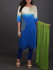 Multicoloured embroidered stitched suit set -  online shopping for Stitched Suits