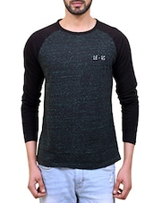 grey cotton melange t-shirt -  online shopping for T-Shirts