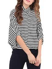 monochrome georgette shirt -  online shopping for Shirts