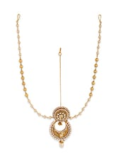 gold plated maang teeka -  online shopping for Maang teekas