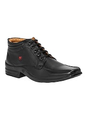 black Leather lace up derby -  online shopping for Derbies
