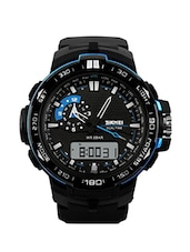 Skmei Dual Time Waterproof Shock Resistant Digital Mens Wrist Watch -GM1801BLU -  online shopping for Analog Watches