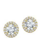 white silver plated studs earring -  online shopping for Earrings