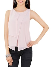 baby pink georgette top -  online shopping for Tops
