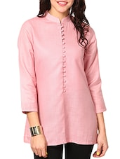 baby pink cotton regular kurti -  online shopping for kurtis