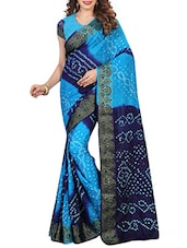 multicolored bandhani saree -  online shopping for Sarees